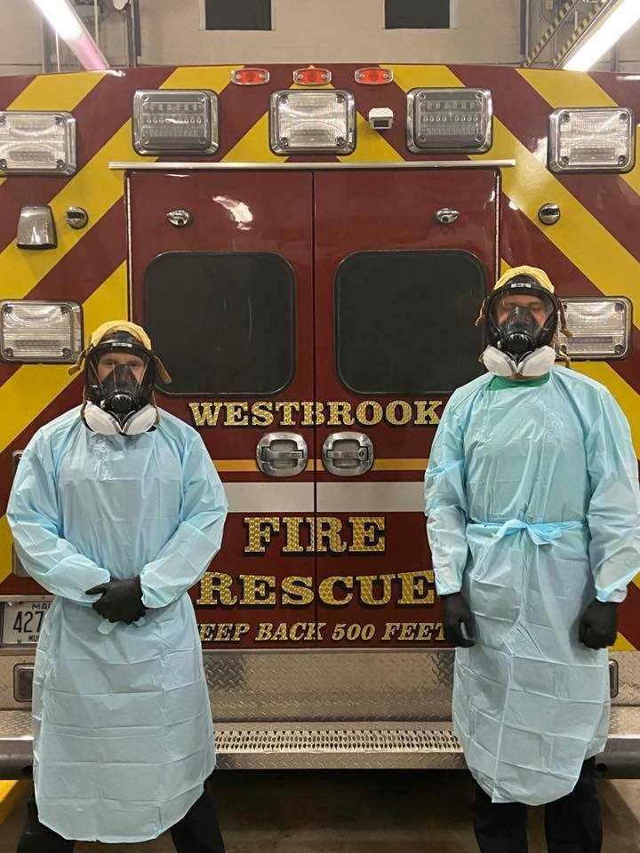 Westbrook firefighters ready to battle COVID-19